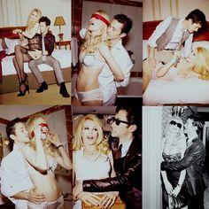 GQ photoshoot with Joseph Gordon-Levitt and Claudia Schiffer. Modern Suits, Joseph Gordon Levitt, Claudia Schiffer, Couple Pictures, Modern Fashion, Gq, Night Life, Crushes, Pasta