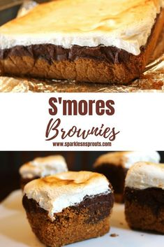 S'mores Brownies are rich, decadent, oooey gooey goodness that are a perfect summer treat.  You can everything you love about a S'more without ever starting a fire. . #smore #brownie #summer #summerfun #decadant #dessert #treat #summertreat #mustmake #chocolate #marshmallow