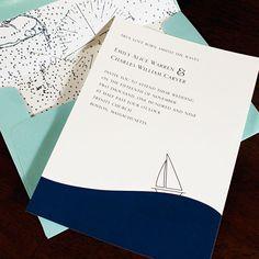 simple and elegant sail boat invite.