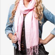Nwt Pashmina-Style Light Pink Scarf/Wrap
