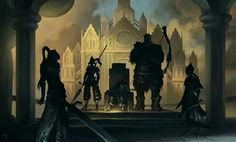 Gwyn's Four Knights. (From left to right) Artorias the Abysswalker, Dragonslayer Ornstein, Gwyn Lord of Sunlight, Hawkeye Gough, Lord's Blade Ciaran