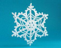 GRANDE uncinetto fiocco di neve ornamenti bianco di MonstersNight