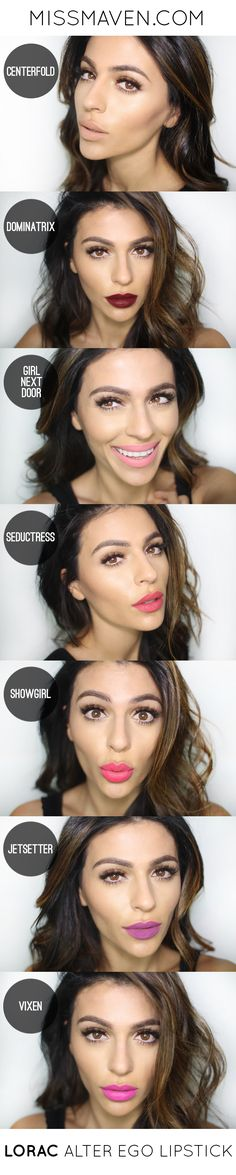 Lip color and make-up looks Pretty Makeup, Love Makeup, Makeup Looks, All Things Beauty, Beauty Make Up, Hair Beauty, Lorac Lipstick, Lipstick Shades, Makeup Tutorials