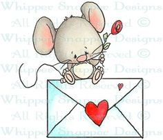 SWAK Mouse - Love Images - Love - Rubber Stamps - Shop