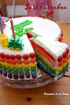 A rainbow cake is fun to look at and eat and a lot easier to make than you might think. Here's a step-by-step guide for how to make a rainbow birthday cake. Basic Vanilla Cake Recipe, Rainbow Food, Rainbow Cakes, Cake Slicer, 8 Inch Cake, Novelty Birthday Cakes, How To Make Frosting, Rainbow Birthday, Food Cakes