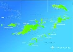 Carte des Iles Vierges Britanniques