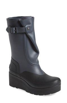 Hunter 'Original - Galosh Wedge' Rain Boot (Women) available at #Nordstrom