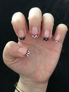 Francés con puntos Nails, Beauty, French Tips, Dots, Finger Nails, Ongles, Beauty Illustration, Nail, Nail Manicure