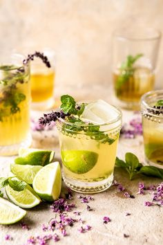 I could not be more obsessed with this White Tea and Muddled Basil Mojito. Fresh brewed white tea mixed with a splash of rum and honey, muddled with mint and basil, and topped off with Mojito Cocktail, Summer Cocktails, Tea Cocktails, Brunch Recipes, Cocktail Recipes, Nacho Recipes, Drink Recipes, Yummy Recipes, Yummy Food