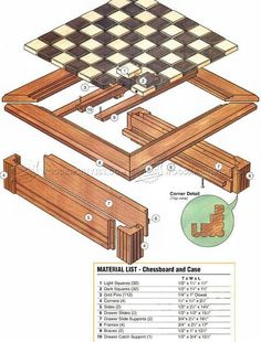 Chess Board Plans - Woodworking Plans #woodworkingplans #WoodworkingProjectsChessboard
