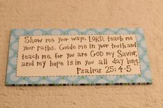 custom bible verse canvas art | bread for my soul