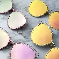 LAST 1! Pink mirrored sunglasses trendy aviators Now these stunna shares are trendy!  metal alloy/glass Photo credit: Wholesaler   Ships immediately wila Accessories Sunglasses