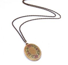 Vintage Gold Filled Oval Locket Necklace by SellitAgainVintage