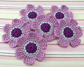 Crochet Flower Appliques Southwest by FineThreads on Etsy