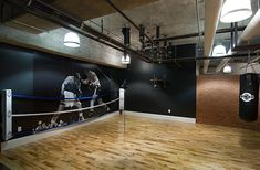 love it! basketball & boxing themed man cave