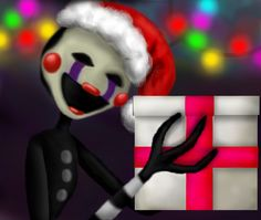 Christmas present by PainterPlushtrap on DeviantArt Christmas Presents, Christmas Crafts, Marionette Fnaf, Five Night, Puppets, Survival, Fictional Characters, Random