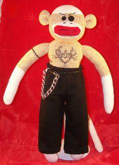 Butterscotch Sock Monkey - Big Mo