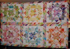 Dee's Doodles, love the scrappy sashing, makes the quilt!