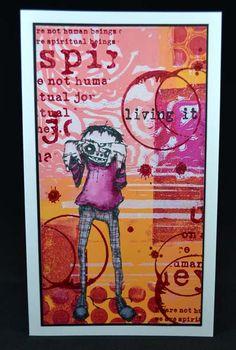 Hier is mijn bijdrage voor de Stampotique designers challenge van deze week. Het thema is Spots and stripes. Ik heb een gelliplate achtergrond gebruikt. Dit zijn de Stampotique stempels die ik gebr...