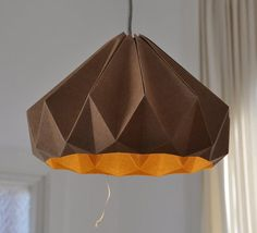 Chestnut paper origami lampshade by nellianna http://www.etsy.com/shop/nellianna  #paper_art #crafts #lighting #product_design