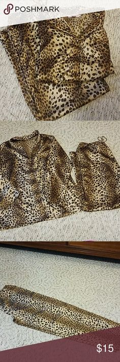 Victoria's Secret Pajamas Cheetah print Victoria's Secret Intimates & Sleepwear Pajamas