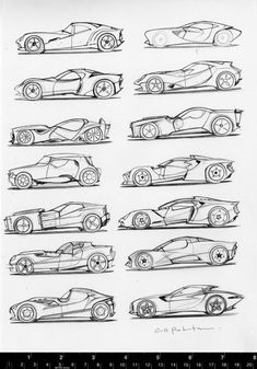 New 2019 Luxury Model Vehicles Either Here or On the Way – Auto Wizard Car Design Sketch, Car Sketch, Car Drawings, Drawing Sketches, Sketching, Scott Robertson, Car Side View, Design Autos, Doodle Drawing