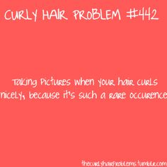 Curly hair problems...