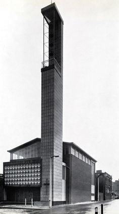 St. Boniface, Whitechapel (1960) by Plaskett, Marshall & Partners. Image from New Steel Construction.