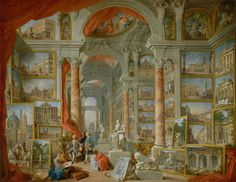 Artist Giovanni Paolo Panini Year 1757 Type Oil on canvas Dimensions 172.1 cm × 233 cm (67 3⁄4 in × 91 3⁄4 in) Location Metropolitan Museum of Art, New York