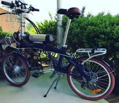 Instagram picutre by @electricbikeoutfitters: EBO Phantom electric bike conversion kit installed on a Miami Citizen folding bike. #bikelife #bicycle #bikes #bike #bikeporn #electricbike #ebikes #ebike @electricbikeoutfitters - Shop E-Bikes at ElectricBikeCity.com (Use coupon PINTEREST for 10% off!)