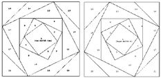 Patchwork patroon: Variatie op de Log Cabin