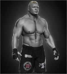 ArtStation - Brock Lesnar done for WWE, Hossein Diba