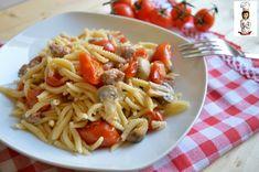 Malloreddus+con+salsiccia+funghi+e+pomodorini