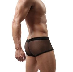 fed753338fb2 Mens Lace Sexy Lingerie Low Waist Mesh Boxers Bulge Comfy Shorts Brief  Underpants Thongs Temptation G-String Underwear,