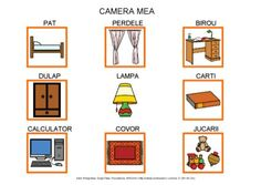 Camera mea by Dana Horodetchi, via Slideshare Autism Activities, Gallery Wall, Education, Cube, Store, Handmade, Speech And Language, Vocabulary, Speech Therapy