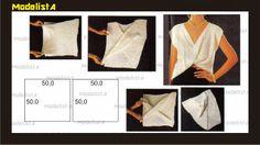 MAGIC БЛУЗКА Японские рукава, бар acinturada красивый крест перекрытия длиной .. Кажется невероятным, но это Блуза выполнена с двумя квадрат ...