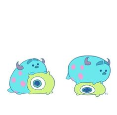 Monster Inc Tsum Tsum by Yoko