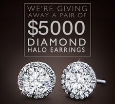Enter to Win a Pair of Halo Diamond Earrings!