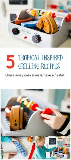 5 tropical inspired recipes for the grill that will help you chase away the dreary winter blues.