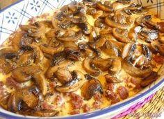 Ingredients : 1 lb lean ground beef (0.45 kg) 1 tsp salt (5 mL) 1/2 tsp black pepper (2 mL) 6 oz cream cheese (180 g) 3 eggs 1 lb mushrooms (0.45 kg) 2 tbsp butter (30 mL) 1 tsp seasoning salt (5