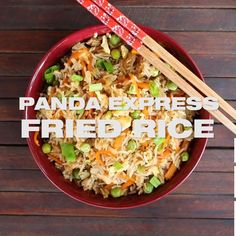Panda Express Fried Rice made just the way you love it! Prepare your own quick & easy copycat fried rice. Watch my short how to recipe video to make it now. Fried Rice Recipe Chinese, Fried Rice Recipe Video, Best Rice Recipe, Easy Rice Recipes, Asian Recipes, Easy Fried Rice, Shrimp Fried Rice, Copycat Recipes, Sauce Recipes