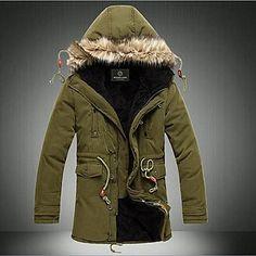 Hengyi férfi meleg kapucnis kabát – EUR € 38.37