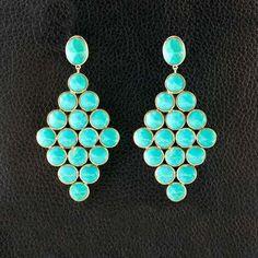 Geometric shaped Turquoise Earrings
