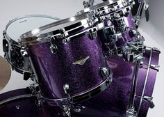 Lars Ulrich's The Worldwired Kit Limited Edition Tama Starclassic Maple kit. — 6pc. Double Bass in Deep Purple.
