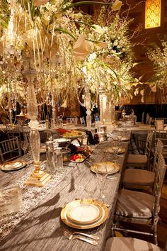 David Tutera Centerpieces | David Tutera... atmospheric setting