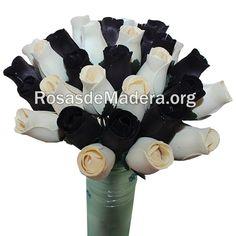 Ramo de rosas #moderno, #decoración, #gótico #rosasdemadera Comprar en www.rosasdemadera.org Arte Floral, Cheap Gifts, Wooden Flowers, Rose Bouquet, Floral Bouquets, Original Gifts, Trendy Tree