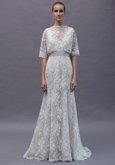 French Chantilly Lace Wedding Gown