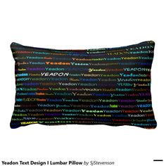 Yeadon Text Design I Lumbar Pillow