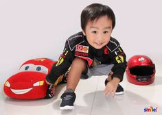 Our future car racer. . .