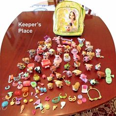 Littlest Pet Shp Lot 90+ Pieces Accesories Pets And Mini Backpack LPS #LittlestPetShop